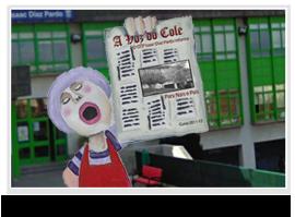 O Burgo é a nosa revista escolar. Aquí tendes o último número.